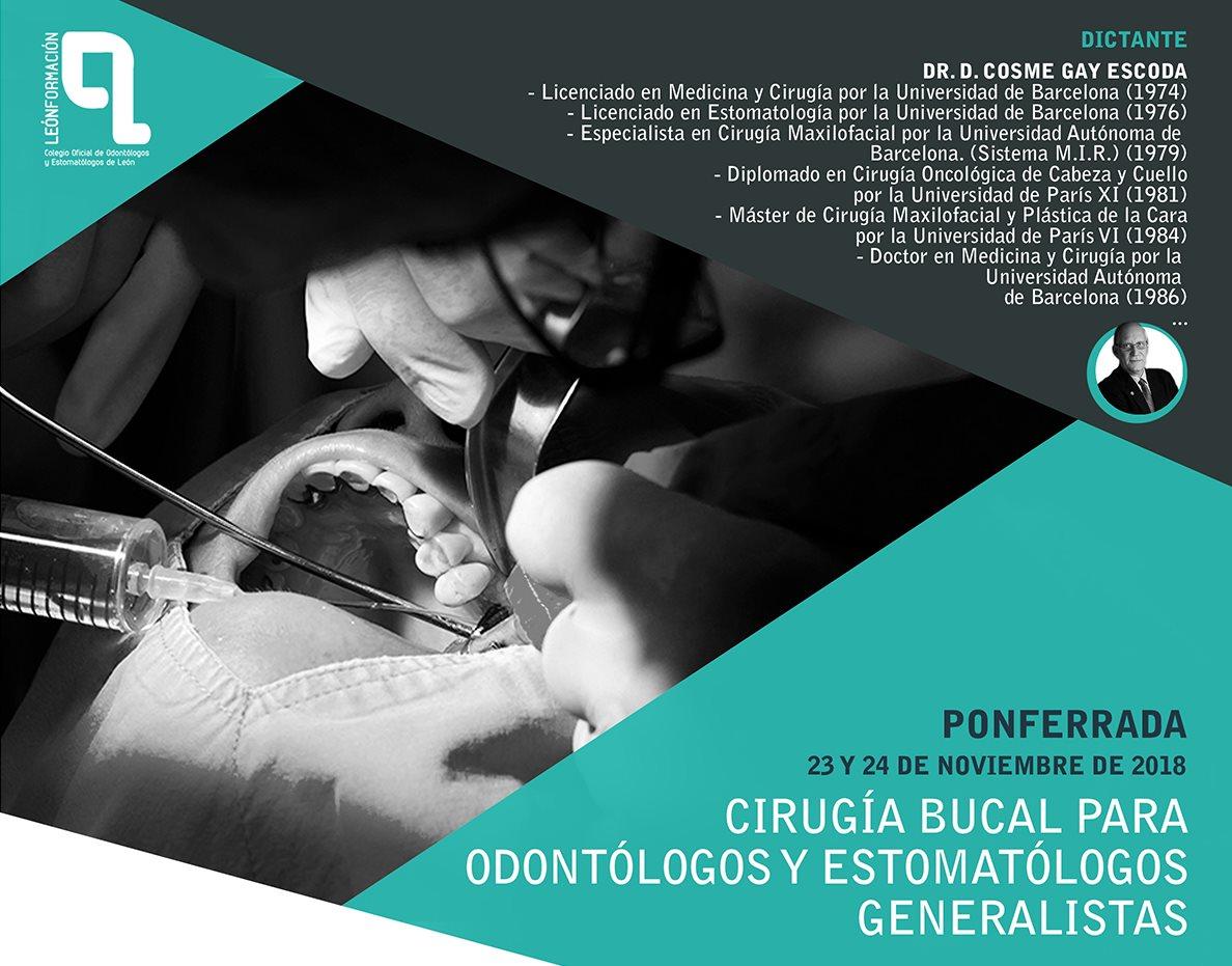 Curso Cirugía bucal para Odontólogos y Estomatólogos generalistas